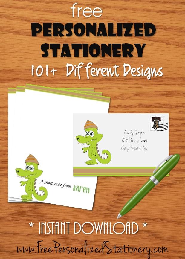 Stationery - Free Personalized Stationery