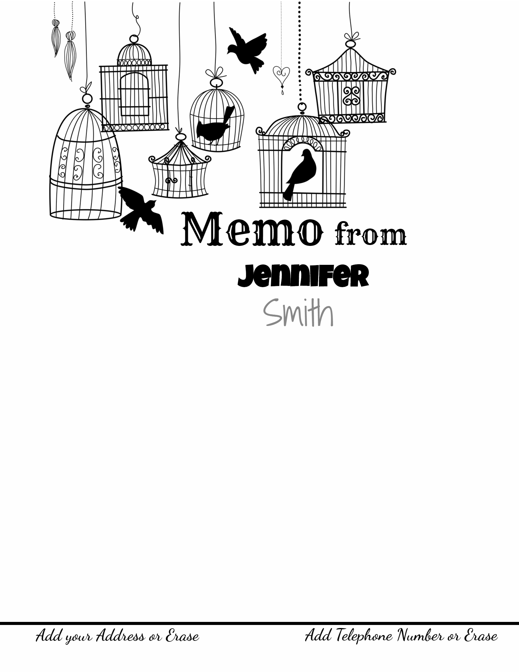 memo template memo template bird cages