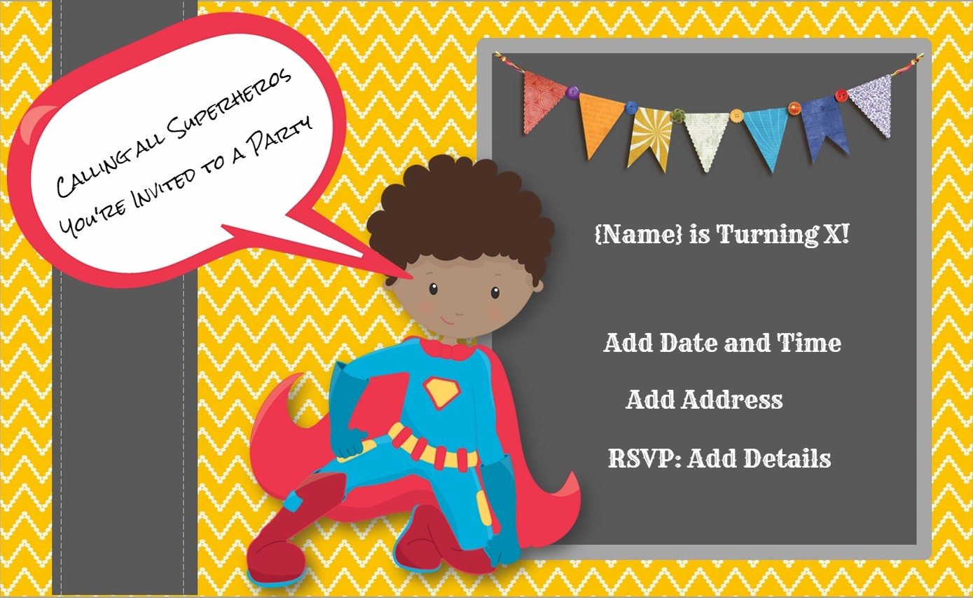 printable birthday invitations printable superhero birthday invitations middot personalize middot superhero invitations
