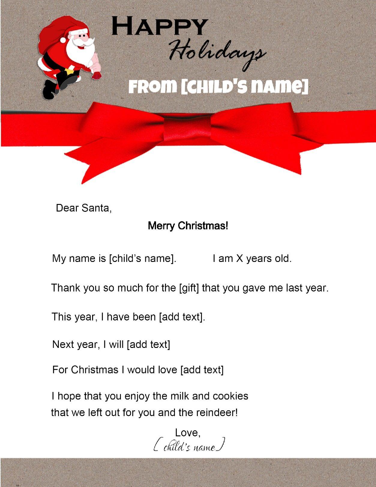 write letter to santa