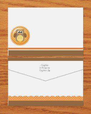 orange and brown with cute owl