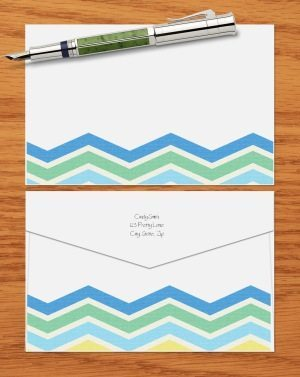 blue and green chevron