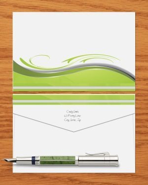 green pattern on stationery