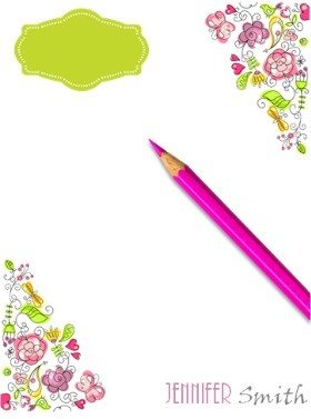 free stationery with hearts and flowers customized with your name