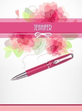 floral stationery personalized with first name
