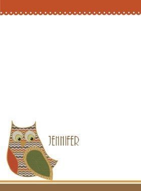 personalized stationery for teachers with a cute owl can be customized with teachers name and given as a teacher appreciation gift