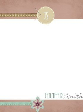 Personalized stationery with monogram and full name