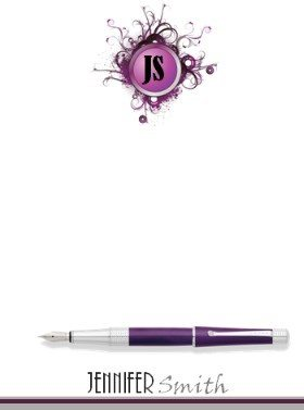 custom stationery with monogram and full name which can be personalized online for free