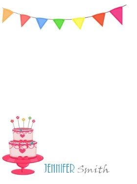 personalized birthday note card