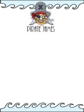 personalized stationery for boys with a pirate theme