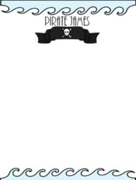 pirate stationery for boys