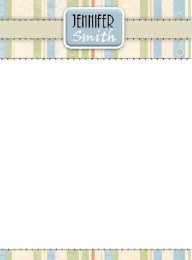 pastel colored stationery which can be personalized online free