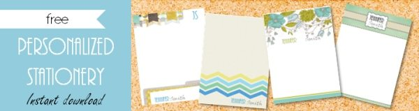 Free Personalized Stationary