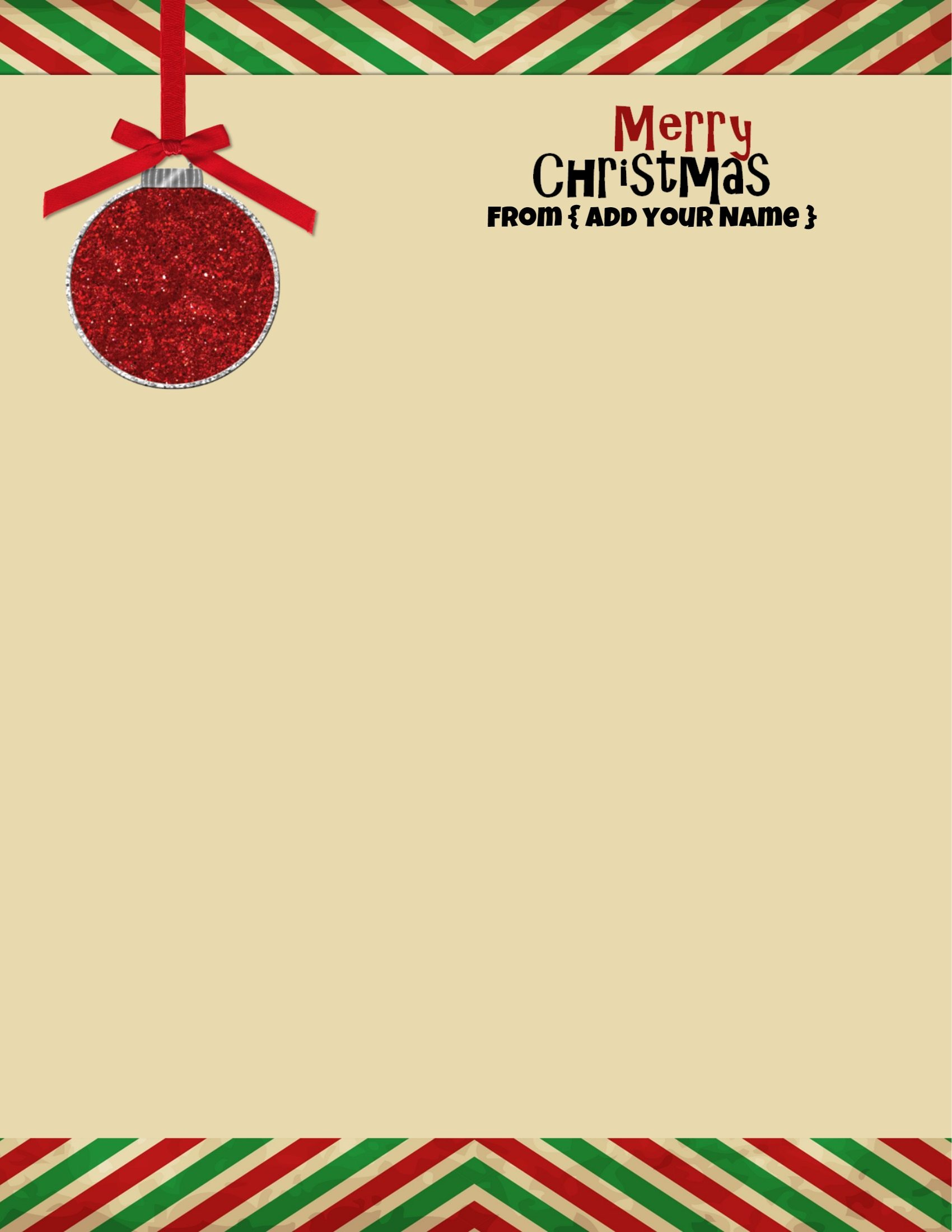 Free Personalized Christmas Stationery