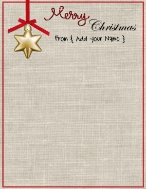 "Stationery paper that reads ""Merry Christmas"""