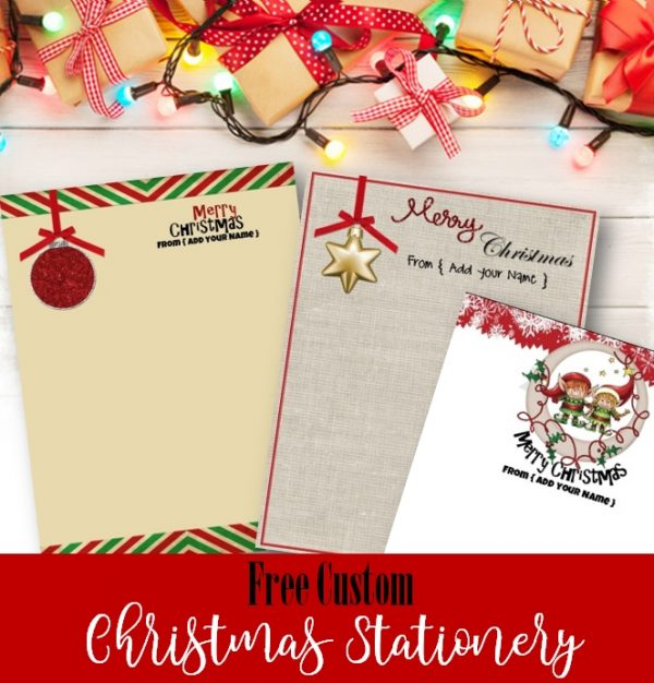 Free christmas stationery