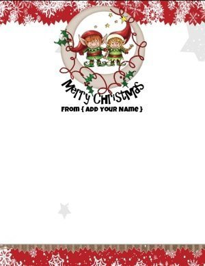 Merry Christmas Stationery free