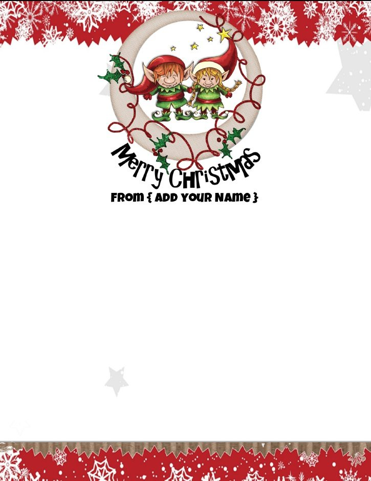 photograph about Free Printable Christmas Letterhead referred to as Absolutely free Custom-made Xmas Stationery