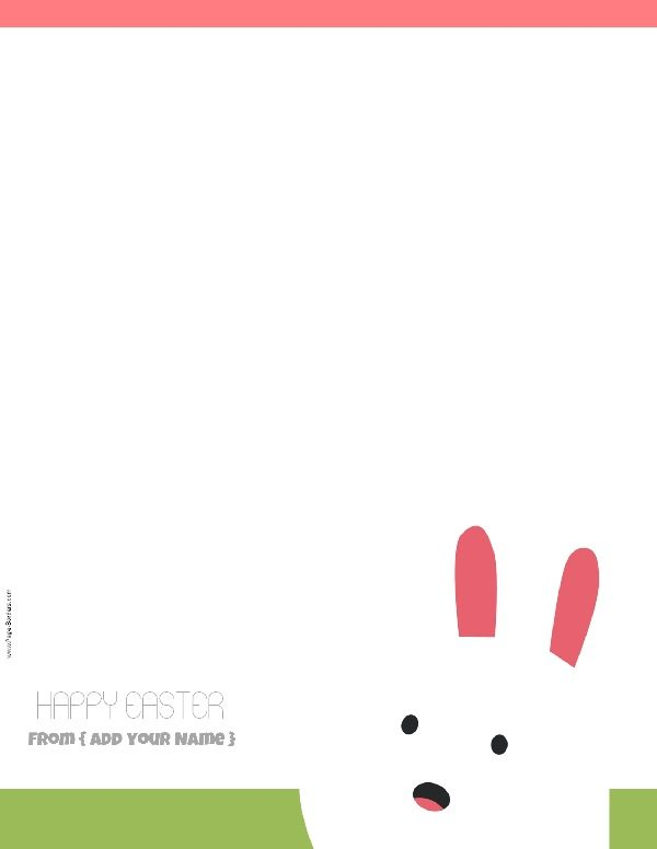 Free Custom Easter Stationery