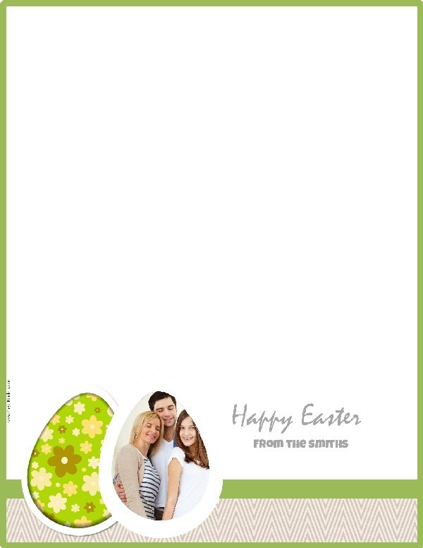 Personalized stationery for Easter