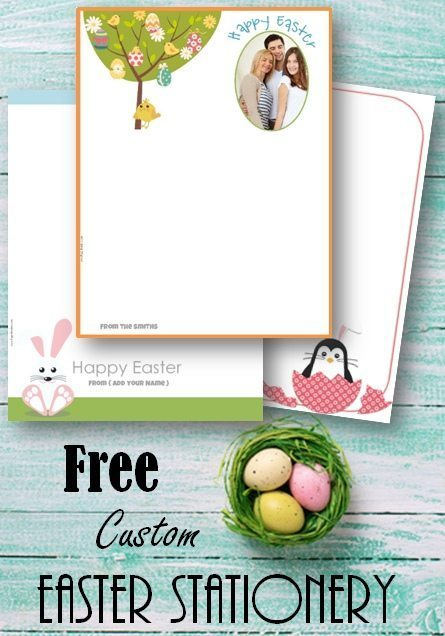Free Easter stationery