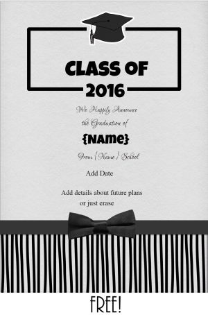 College graduation announcements