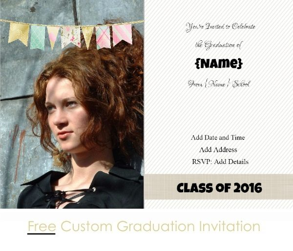 free custom invitation for graduation