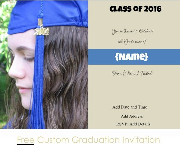 Graduation party invitation with photo