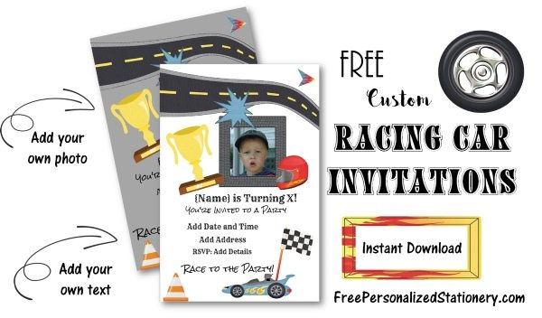 Free printable invitations for boys