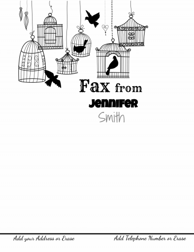 Fax cover page