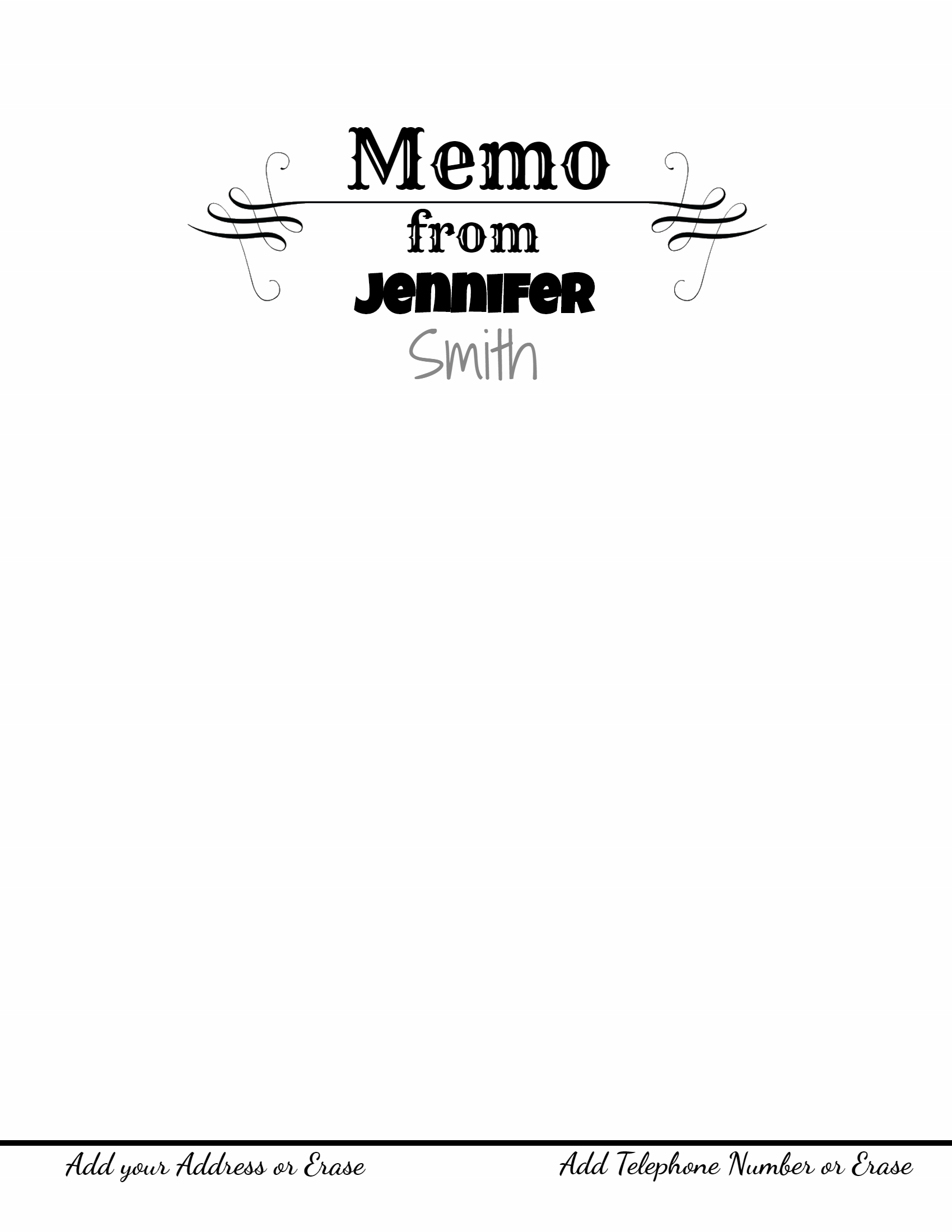 Free Printable Stationery Templates  Memo Templete