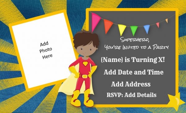 printable superhero birthday invitations