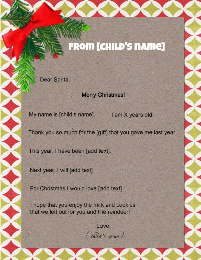 free santa letters free letter to santa 3751