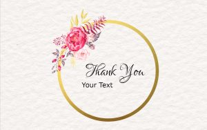 Thank you card notes