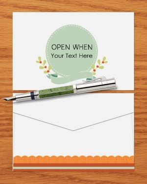 Open when envelope
