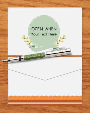Open when envelope